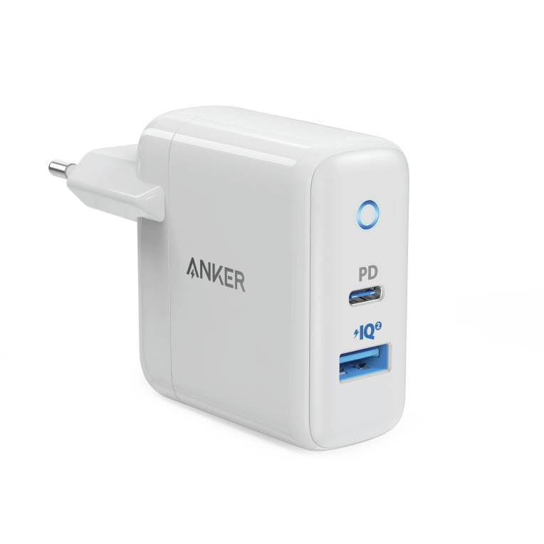 ANKER POWERPORT PD+2           CHARGRAY+WHITE