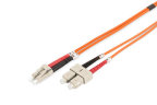 CABLE CONEXION FIBRA OPTICA DIGITUS MM OM2 LC a SC 50/125 1m